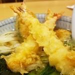 きしめん よしだ - 天ぷらは、海老が2匹と南瓜