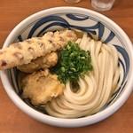 麺匠 釜善 - とりちくわ天うどん(ひやひや)(3玉)