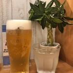 麺匠 釜善 - 生ビール(ヱビス)