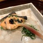 109958528 - 時鮭 大徳寺納豆と木の芽 おかひじき 茗荷