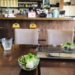 カレーキッチン パンドラ - サラダはミニサイズ…内山農場の小松菜