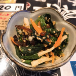 桔梗亭 - お通し  菜の花の胡麻和え