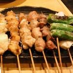串や とりけん - おまかせ7本盛り¥950 2011.12.27