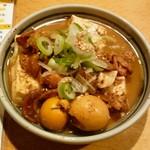 串や とりけん - 鶏もつ煮込み¥380 2011.12.27