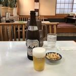 109971534 - カッパえびせん、瓶ビール付き