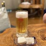 いちゃりば - オリオン生ビール¥380とジーマーミ豆腐¥300