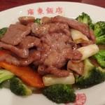 109979273 - 牛肉とブロッコリーの炒め