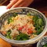 10998330 - [2011.12.30] ズワイガニと揚げ湯葉のサラダ