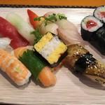 玄海鮨 - 梅にぎり(800円)+アナゴ+鉄火巻
