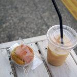 せたがや縁側カフェ - 玄米甘酒ストレートと松陰マフィン