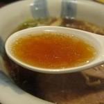 一蔵 - 醤油らーめん スープ