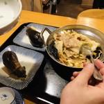 十番のおばちゃん - 焼きナス&野菜炒め(肉入り)
