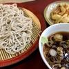 丹波屋 - 料理写真:天もり@390円   いやぁ、ツユが美味しかった!もりだけど天ぷらに出汁かけてくれるし!最高ですな!