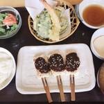 とうふや豆蔵 - 料理写真:田楽豆腐と天ぷら盛り