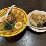 福味 - 料理写真:お得なラーメンセット、満腹に近づく…