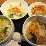 中華料理 東龍花 - 料理写真:4点セット880円