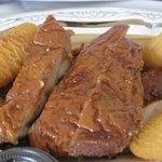 11001114 - 鶏もも肉のスモークポテト添え