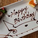 KICHITONARU KITCHEN - 料理写真:お祝いコースのデザートプレート アラカルトでもご注文できます