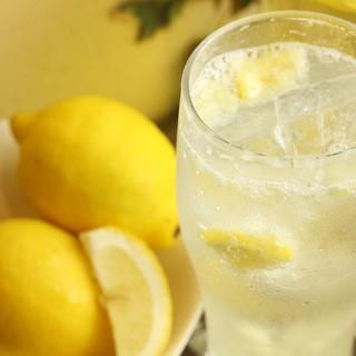 料理のお供に*はちみつ入オリジナルレモンサワー&厳選日本酒