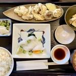 小鮎 - はりいか定食(刺身・天ぷら) 980円