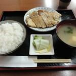 かめや - 豚肉生姜焼き、ライス(中)、みそ汁