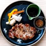 HAPPY HILL - ◼️梅酢黒豚のグリルランチ【¥1200】