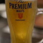 味ん味ん - ドリンク写真:生ビール(プレミアムモルツ)