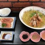 一休食堂 - えびしおラーメン950円
