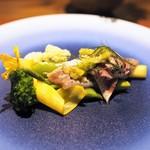 110026668 - イワシ 有機野菜 バジルとキュウリ・みょうがのドレッシング