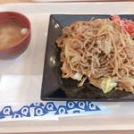 フードスタジアム - 富士宮焼きそば  味噌汁付 800円