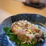 平八 - 料理写真:トビ魚のナメロウ
