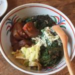 蕎麦 ふじおか - 前菜が山盛り2人前