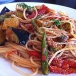 てさくり 田園レストラン - 旬野菜のトマトソーススパゲティ