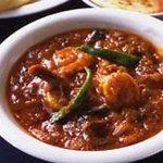 インド家庭料理 サンタナ - エビカレー