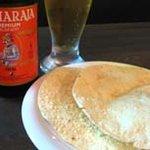 インド家庭料理 サンタナ - パポド。インドのおせんべい。