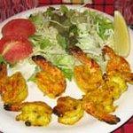 インド家庭料理 サンタナ - スパイスを使用したエビの炭火焼、タンドリープラウン