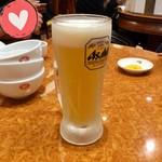 天津包子舘 - 【アサヒ 生ビール(中) \500+税】キンキンです。