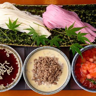選べる素麺と3種のタレが魅力的♪「素麺の幕の内!」をぜひ