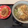 野呂パーキングエリア(下り)スナックコーナー - 料理写真:かき揚げ蕎麦&コロッケ