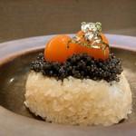 熊の焼鳥 - キャビアの卵かけご飯