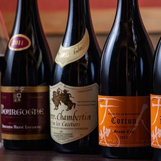 日本人醸造家の仏産ワインや秋田県の地ビールを、お料理と共に。