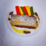 トルテュ - 「久慈浜産タチウオのファルシ、タプナード風味」