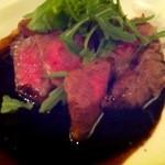 和院 - 炙り和牛の赤ワインソース 1,280円