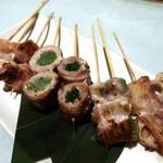 炭火焼き鳥と博多野菜巻き串 個室居酒屋 結 - 博多野菜巻き串