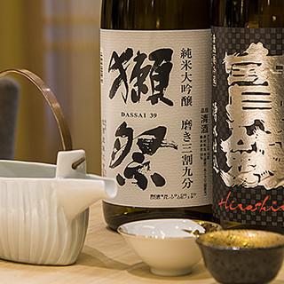 広島県の地酒の他、ドリンクを多彩にラインナップ◆料理と共に
