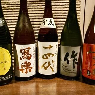 料理にあった全国の日本酒を多数取り揃えております‼︎
