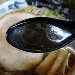 旭川らぅめん青葉 - 正油らぅめん スープ