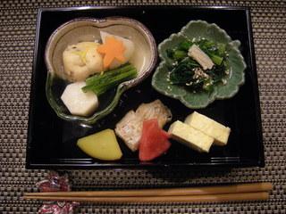 割烹 船生 - 焼き物(鰈酒粕焼き)、炊き合わせほか