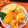 とんかつ 諏訪 - 料理写真:とある日の揚げ物アラカルト(鶏唐揚げ、アジフライ、イカフライ)