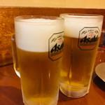 丸八寿司 - 生ビールで乾杯❗️